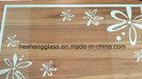 5mm White Flower Printing Verre trempé pour verre décoratif