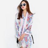 Form-Blume gedruckter Frauen-dickflüssiger Silk Schal (YKY1150)