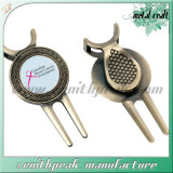 Vente chaude métalliques personnalisées ensemble cadeau d'articles de golf Golf Hat Clip