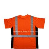 100% poliéster barato al por mayor seguridad fluorescente T-Shirt reflectante a granel camisetas polo