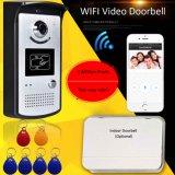 Tarjetas de identificación del abridor de puerta de casa Portero Video Portero sistema WiFi 3teilnehmer Klingelanlage Mirilla Timbre inalámbrico Cámara Doorphone Vf-dB03
