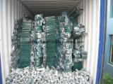 Riga della barra di rotella di gomma piegante del vagone della carriola della Sudafrica Wb7200