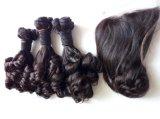 Cheveu malaisien de Fumi d'extensions de cheveu de Vierge de prix de gros de la pente 9A