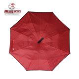 В перевернутом положении автомобилей зонтик с C Форма рукоятки/Umbrella-Red заднего хода
