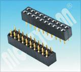 U Tipo H: 5,0mm 2.54 Pitch Linhas duplas fêmea do conector da plataforma Plataforma Fêmea DIP