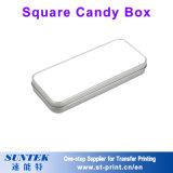Коробка свечки коробки олова конфеты металла сердца сублимации пустая