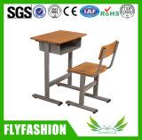 Mesa do estudante da mobília de escola 2015 únicas e cadeira por atacado (SF-06S)