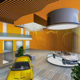 El panel coloreado de la luz del azulejo del techo del poliester