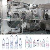 Terminer l'alcool, eau minérale, ligne de bouteille