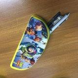 Sac de crayon de silicones avec l'impression de dessin animé pour des gosses