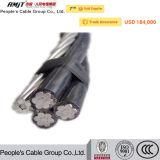 Gesprungener Service Absinken-Aluminium Luftleiter des Kabel-(ABC-Kabel) Quadruplex