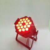 18 10W RGBW LED党屋外の同価は洗浄照明にあふれることができる