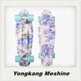 MehrfarbenplastikSkateboard des kreuzer-22inch mit Blumen-Muster