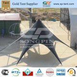12m im Freien schwarze Anti-UVbelüftung-Schatten-Stern-Flohmarkt-Zelte
