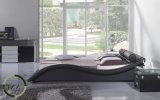 Base moderna popolare del cuoio di formato della regina della mobilia della camera da letto
