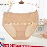 Mutandine mature delle donne della biancheria intima di immaginazione del merletto vita femminile del cotone della METÀ DI