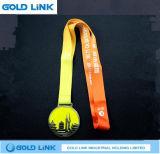 Métiers faits sur commande de médaille en métal de médaille courante de chemin de médaillon de marathon