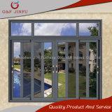 Estilo moderno de la triple vía ventanas corredizas de aluminio con pantalla de acero inoxidable