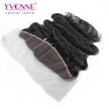 Yvonne cuerpo cabello virgen brasileño onda frontal encaje 13.5*4