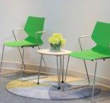 Журнальный стол и стул самомоднейшей нержавеющей стали круглый