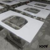 Kingkonree personalizou a parte superior de pedra da vaidade do banheiro de quartzo