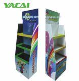 Niño juguetes de cartón Piso en pie, pantalla de visualización de cartón corrugado personalizado