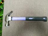молоток плотника 8oz/молоток/молоток с раздвоенным хвостом ногтя в ручных резцах с ручкой XL0008 стеклоткани