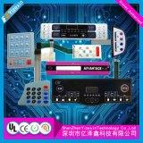 Touche à effleurement flexible de clavier numérique de contrôle de carte à circuit de recouvrement graphique pour l'industrie