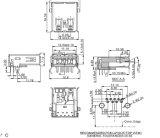 USB 3.0 een Vrouwelijke Schakelaar van het Type van 180/90 Graad DIP/Solder voor het Systeem van de Levering van de Macht