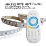 Indicatore luminoso di striscia viola/blu del LED 600LEDs /5m