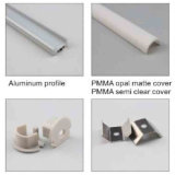 4222 perfil del Lit del borde del canal LED de la esquina del perfil del aluminio U
