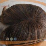 Menschenhaar-Silk oberste wellenförmige Perücke (PPG-l-0463)