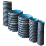 Chinesisches Lieferant blaues HDPE doppel-wandiges gewölbtes Rohr