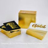 Hot Stamping lámina por lámina de oro de papel Tarjetas de visita
