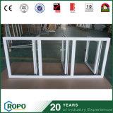 UPVCによって二重ガラスをはめられるハリケーンの影響の開き窓Windows