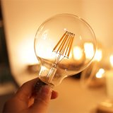 Vintage Edison LED Filament Bulb Lamp Globe E27 G80 Dimmable LED Light Bulb