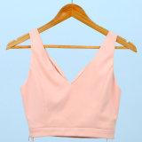 Дамы Custom розового цвета V-образный вырез моды короткое замыкание верхней части топливного бака