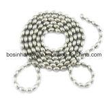 Bola Oval em aço inoxidável de metal em cadeia com rebordo