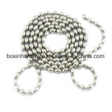 MetallEdelstahl-ovale Kugel-wulstige Kette