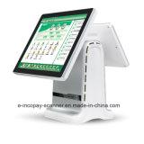 """Registratore di cassa capacitivo Android dello schermo di tocco di Icp-Ea11sj doppio per il sistema/supermercato/ristorante/al minuto di posizione (15 """" +9.7 """")"""