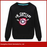 Kundenspezifische Hoodies der schwarzen Form-Männer Sweatshirts (T168)