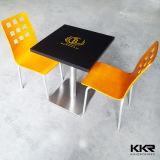 Topo da tabela personalizada acrílico transparente de pedra artificial, mesa e cadeiras
