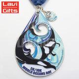 De in het groot Goedkope Mariene Medaille van het Embleem van de Druk van het Metaal van de Douane 3D Gouden