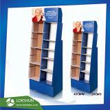 Plancher en carton ondulé de vente au détail personnalisé avec des poches d'affichage pour les jouets