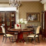 Tabela de jantar luxuosa clássica espanhola do estilo da madeira contínua