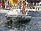 Barco de pesca inflable de la costilla del barco del casco rígido de Liya 19feet