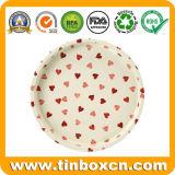 Plateaux ronds de portion de bidon de fruit pour la décoration de plaque métallique