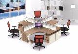 Fashionalbe asientos de la zona de recepción de madera melamina Mesa Redonda mesa metálica