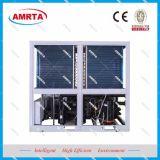 공기에 의하여 냉각되는 물 냉각장치 및 열 펌프 공기조화