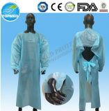 Plastikwegwerf-Kleid der CPE-Lokalisierungs-Gown/PE mit elastischem Stulpe-Fabrik-Großverkauf